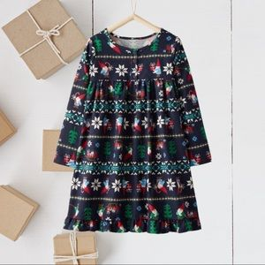 Hanna Andersson Flannel Gnome Holiday Gown NEW